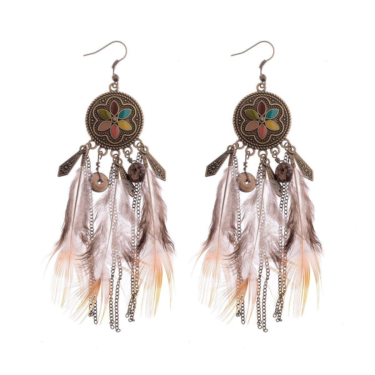 3900631da24c7 1.83AUD - Vintage Fashion Women's Bohemian Feathers&Multi Feather ...