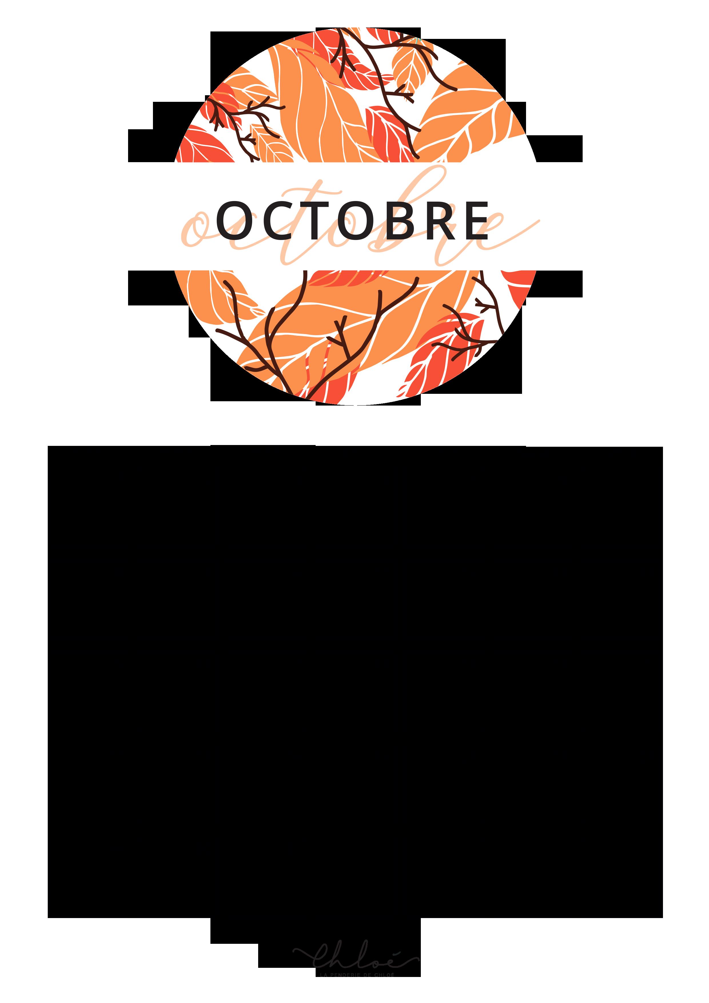 Printables Automne : calendrier, tracker, semainier. // La Penderie de Chloé #octobreautomne Calendrier octobre à imprimer #octobreautomne Printables Automne : calendrier, tracker, semainier. // La Penderie de Chloé #octobreautomne Calendrier octobre à imprimer #octobreautomne