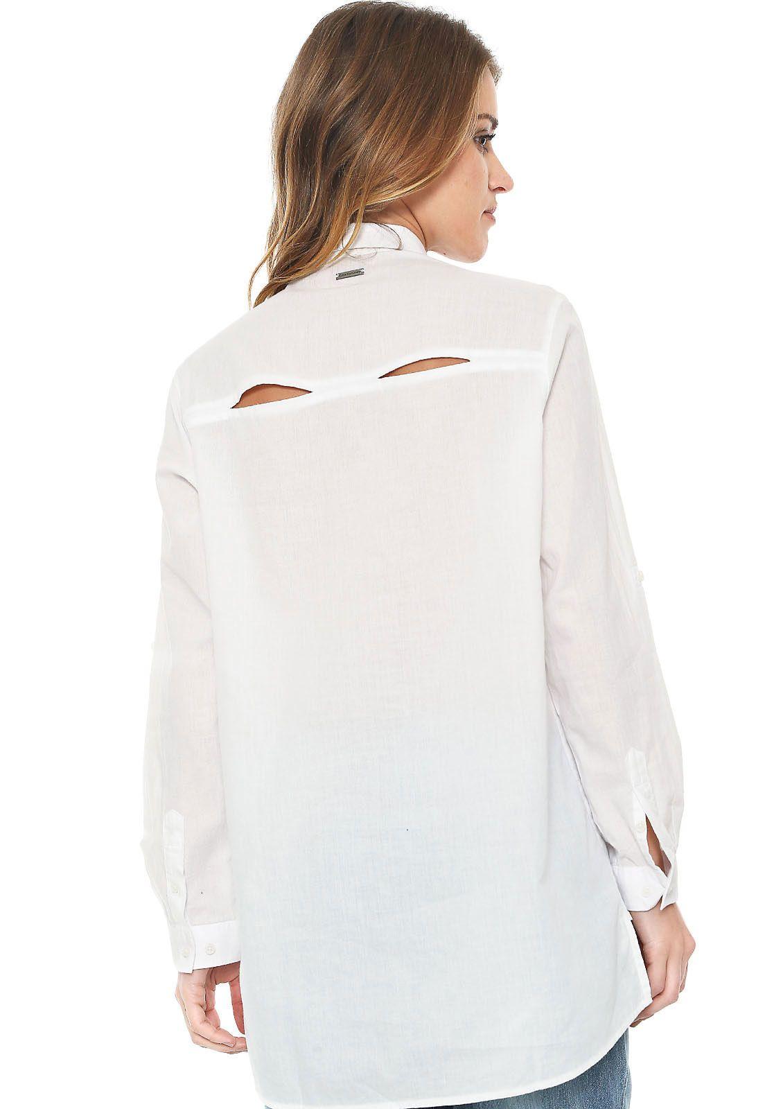 af26bb617b Camisa Calvin Klein Jeans Bolsos Branca