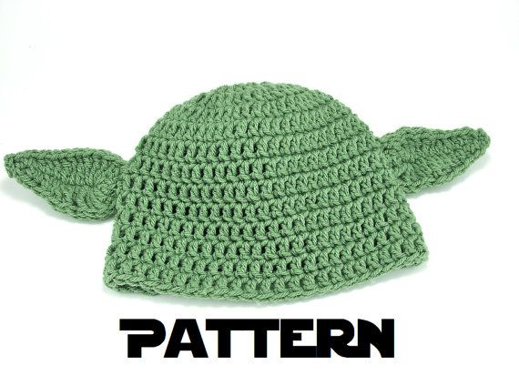 599c5a0ecc3 Crochet PATTERN Yoda Inspired Hat All ages babies to adults by TheLilliePad