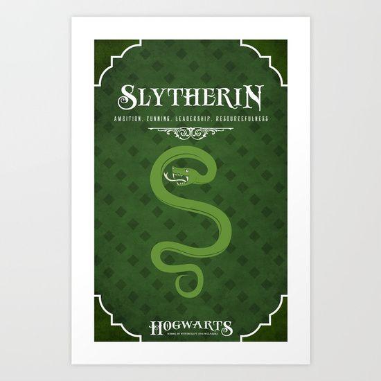 Slytherin poster - Society 6