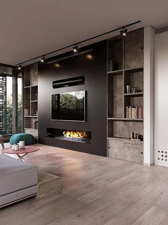 61+ Fireplace Fall Decor for Living Room#decor #fall # ...