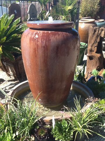 Large Urn Style Pot Perfect For A Entry Way Outdoor Water Feature Water Features In The Garden Outdoor Pottery