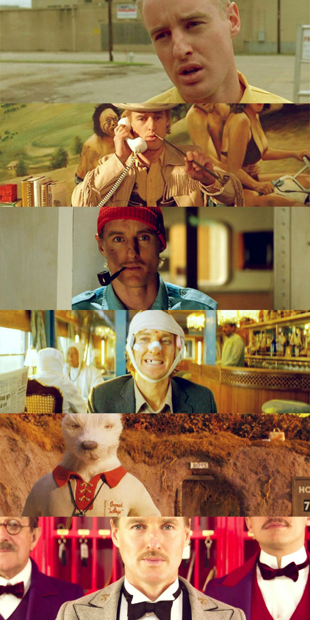 Owen Wilson Wes Anderson Movies הבלתי רשמיים Pinterest