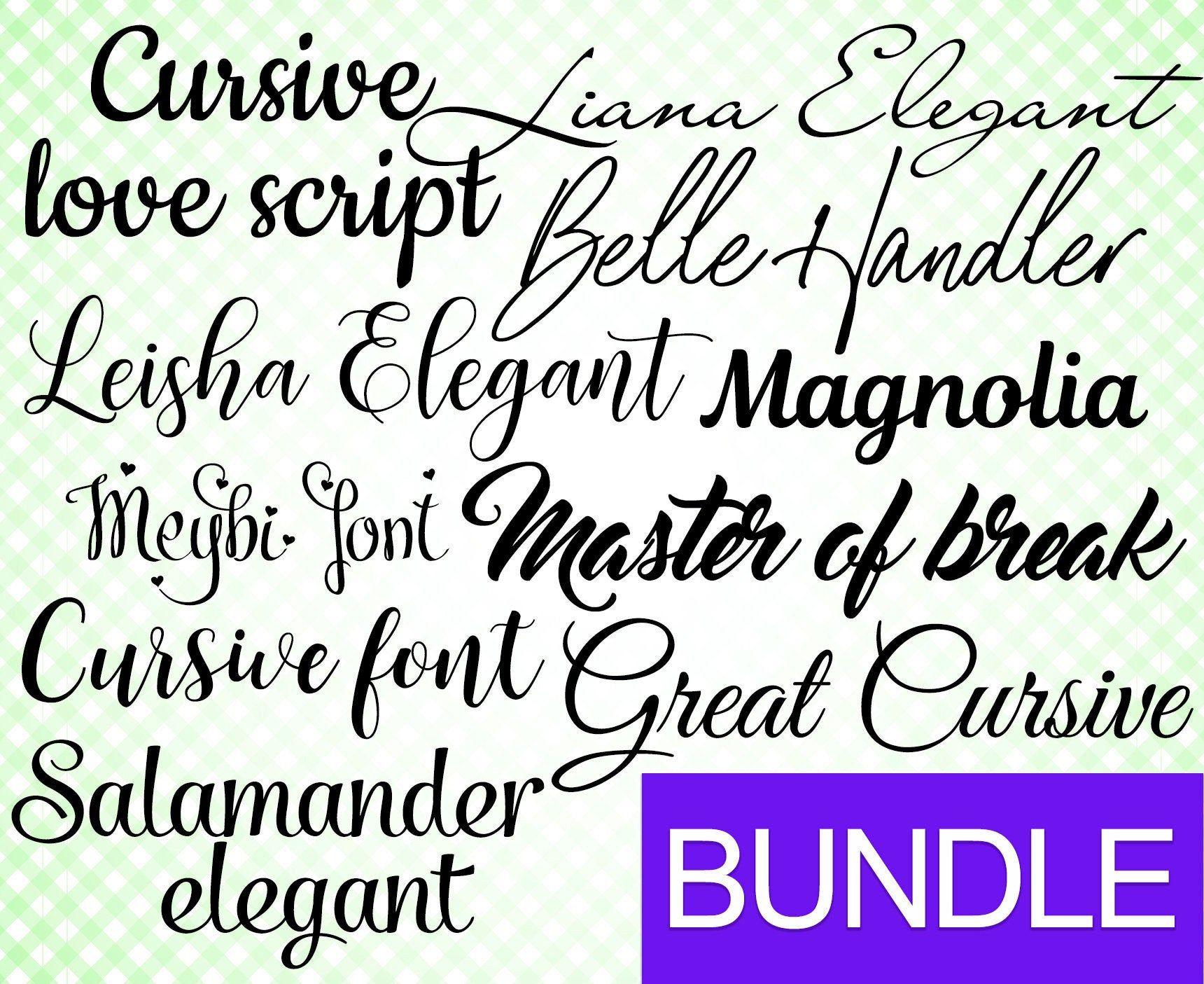 Download Bundle for Cricut Bundle cursive font svg Font svg Cricut ...