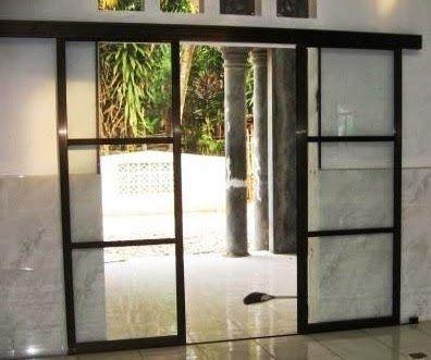 Contoh Desain Pintu Rumah Sliding Sederhana
