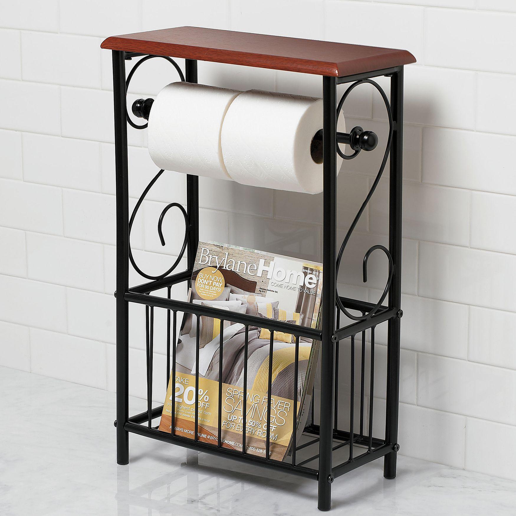 Scroll Toilet Paper Magazine Holder Toilet Paper Holder Toilet Paper Bathroom Table