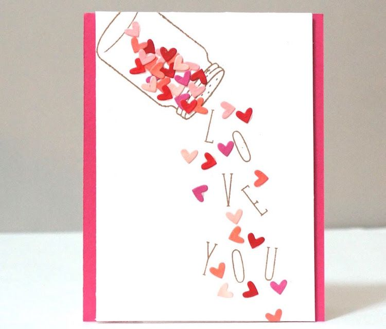 Cadeau Saint Valentin DIY, carte et décoration originale en 80+