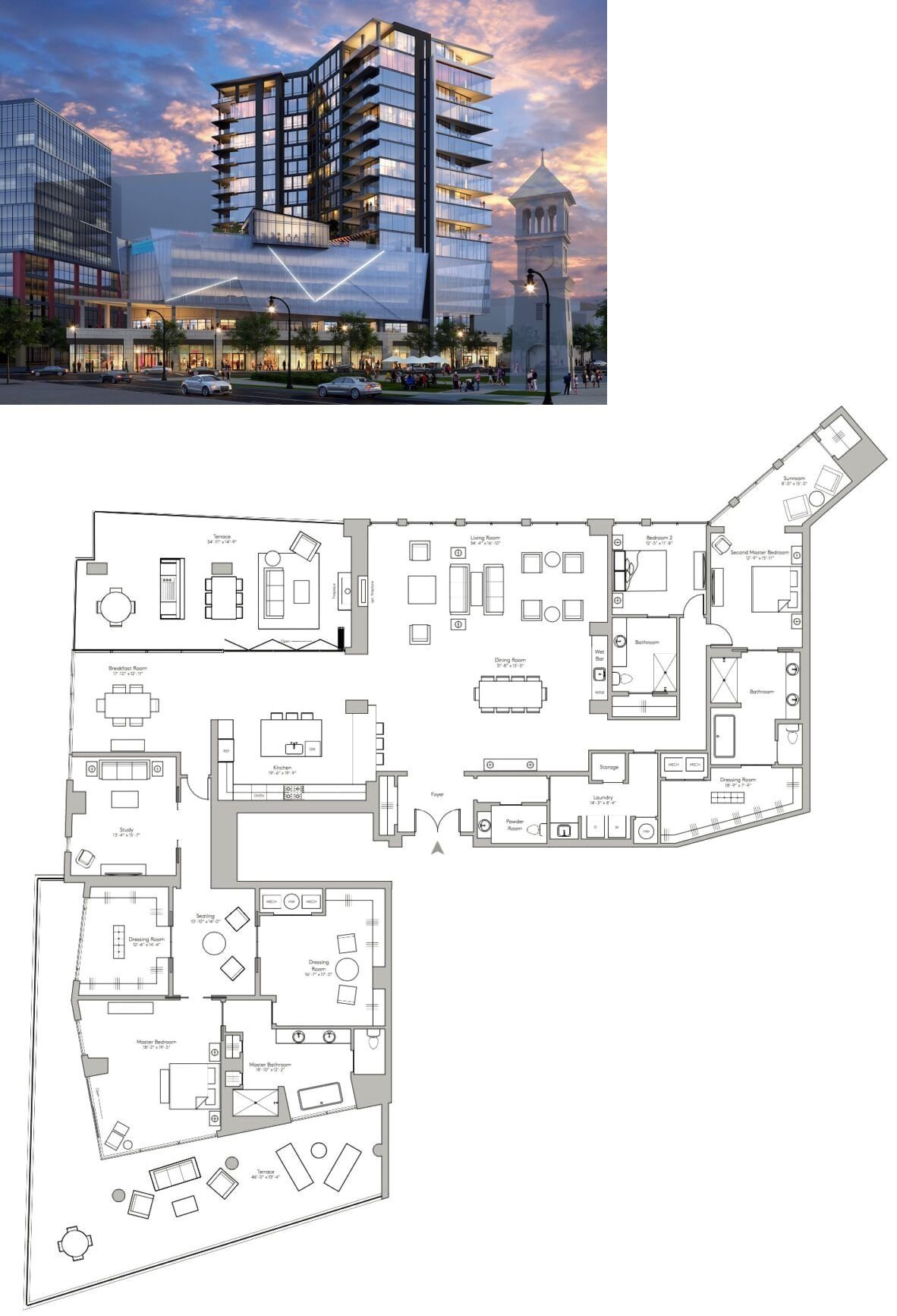 Update The Charles Condos Of Atlanta Ga Architectural Floor Plans House Layout Plans Mansion Floor Plan