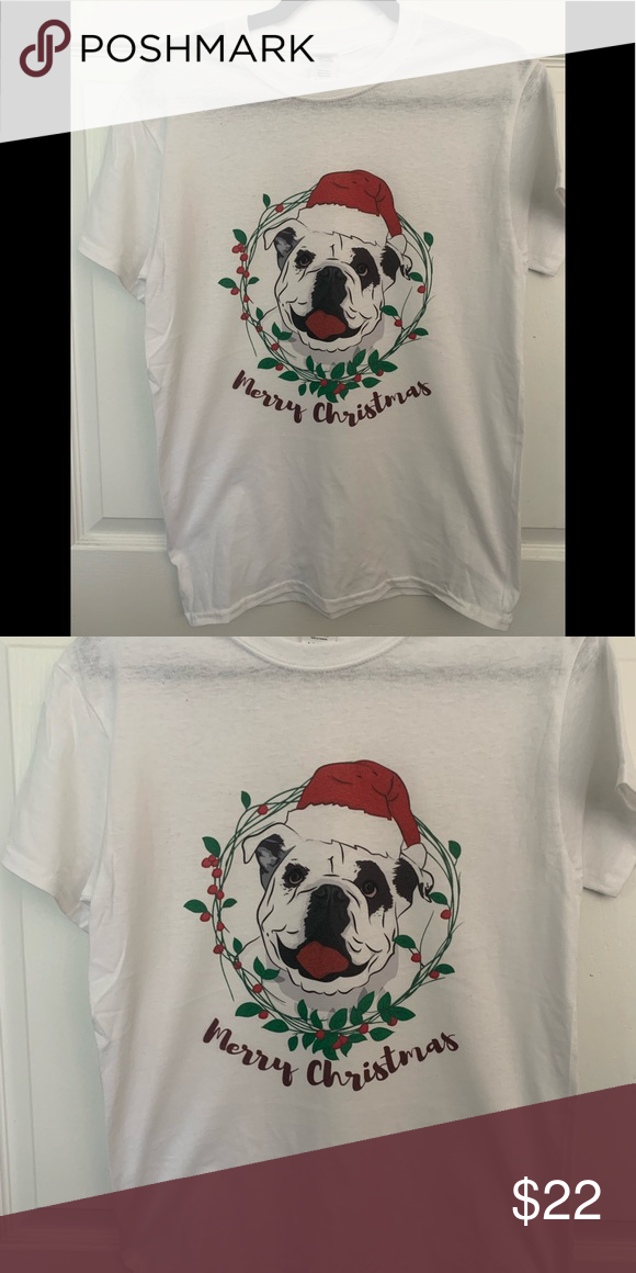 Tee merry Christmas dog t-shirt