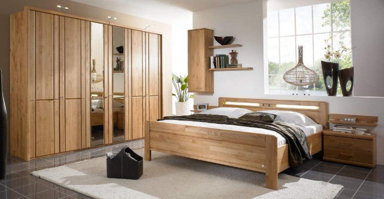 Erle Schlafzimmer ~ Schlafzimmer massivholz bett schrank erle massiv bergo yatego