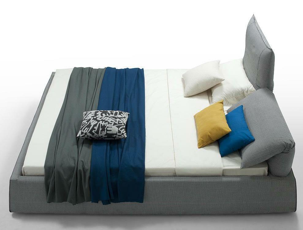 Adjustableheadboard Platformbeds | Modern Grey Fabric Covered Bed With Adjustable  Headboard