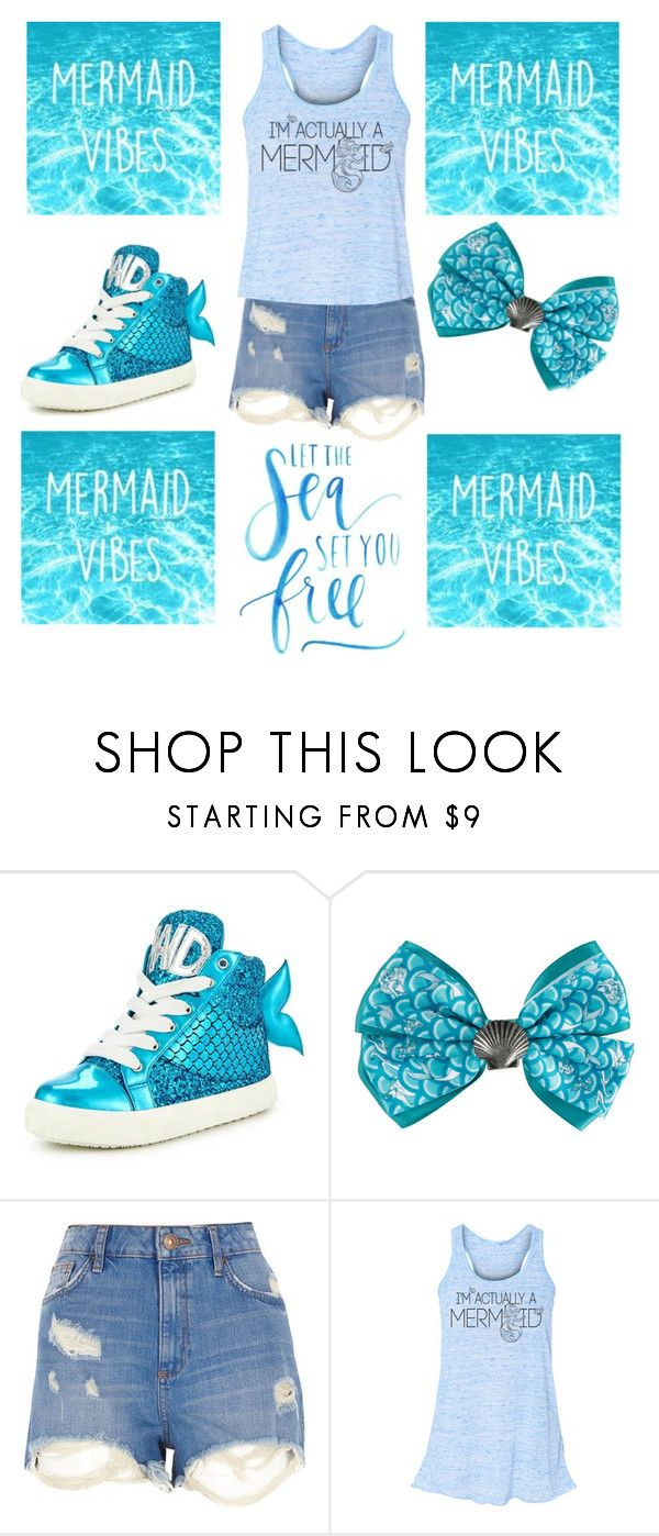 """""""Mermaid Fun"""" by otakutwins1 ❤ liked on Polyvore featuring Miss KG, Disney and River Island"""