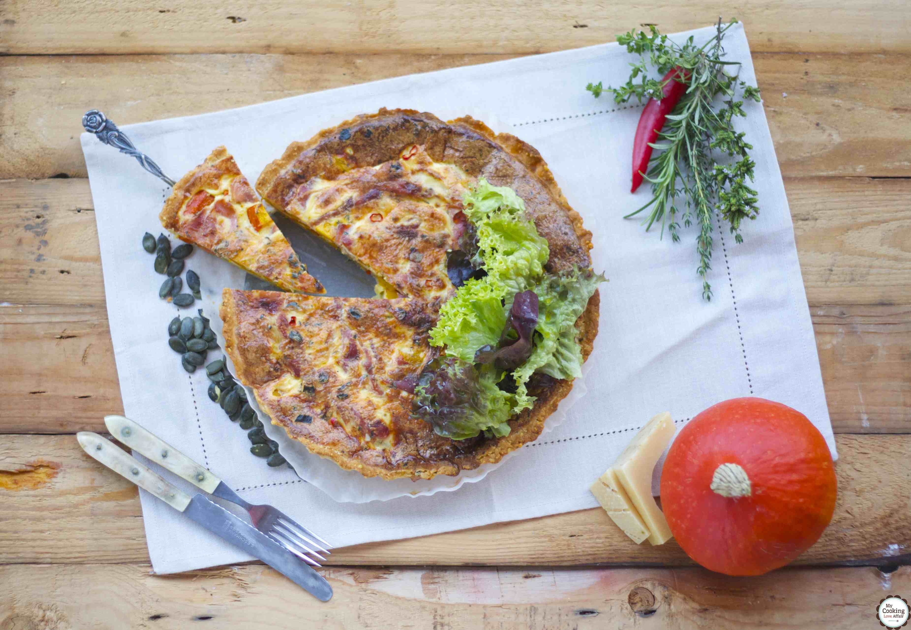 Parmesan-Tarte mit Parmaschinken und Kürbis für die Effilee   my cooking love affair
