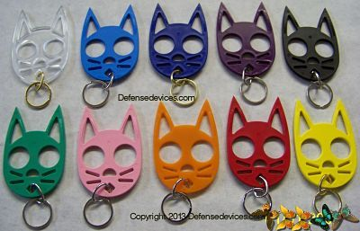 Black Cat Keychain For Self Defense Cat Self Defense Keychain