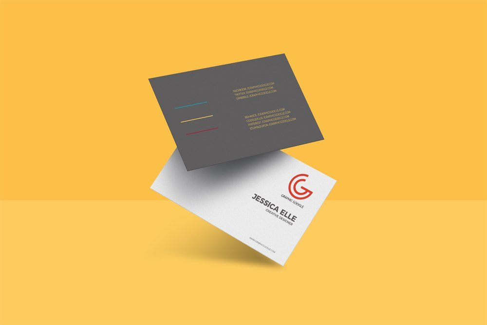 Free Floating Business Card Mockup Free Business Card