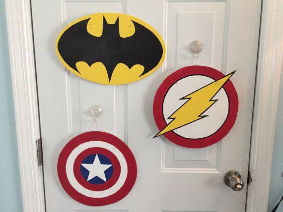 Comics Door Hanger Wooden Door Hanger Batman The Flash Captain America Custom Door Hanger Personalized Door Wooden Door Hangers Door Hangers Wooden Doors