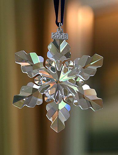 x - Swarovski 2008 Annual Limited Edition Crystal Ornament.