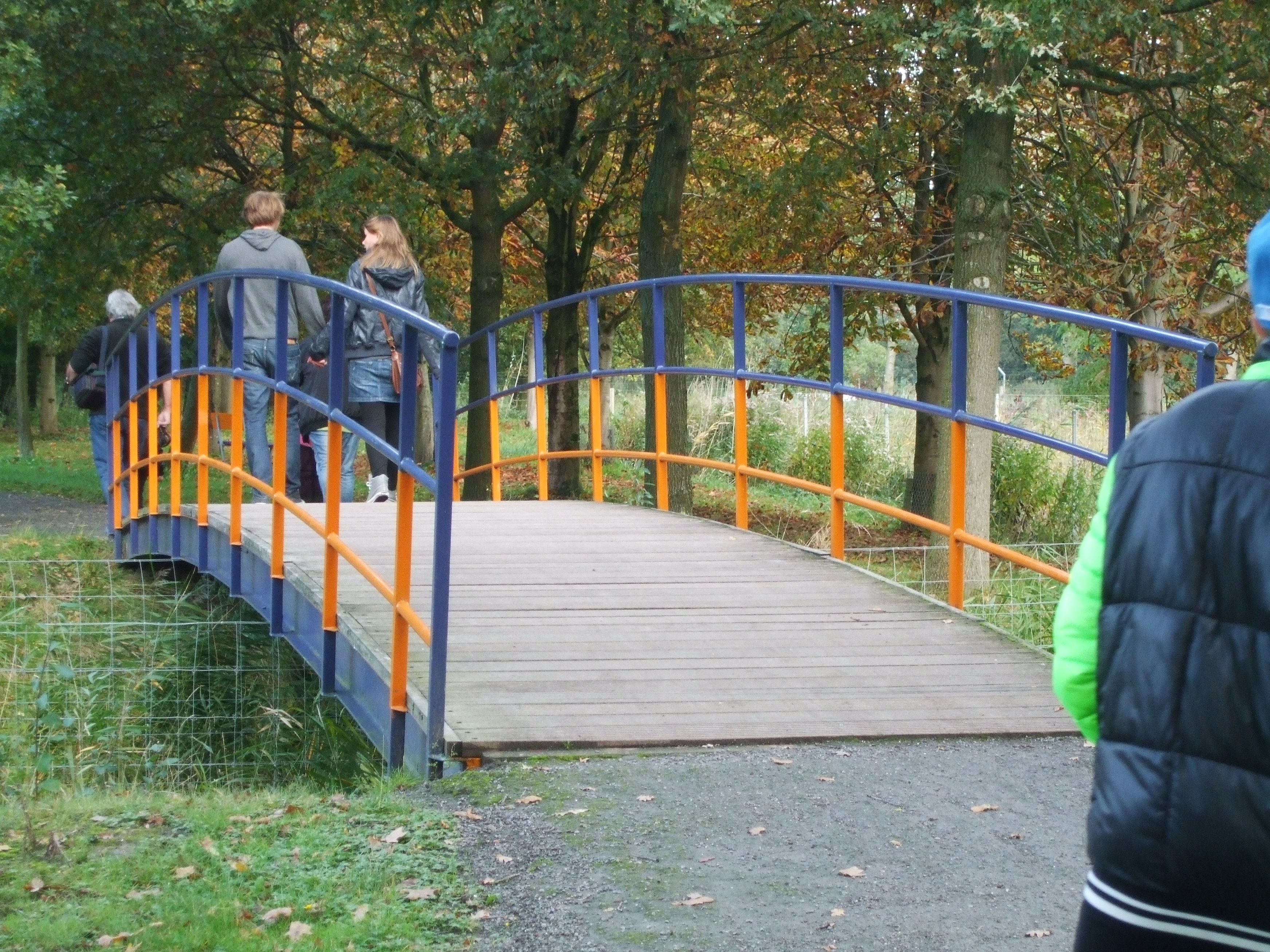 bridge  orange and blue