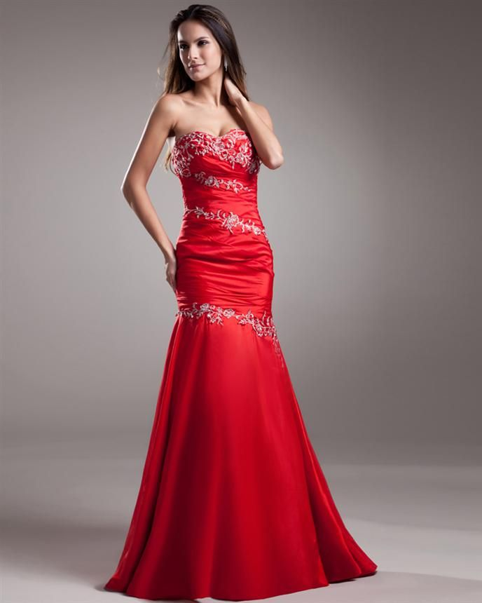 Red Silk Prom Dresses 2014