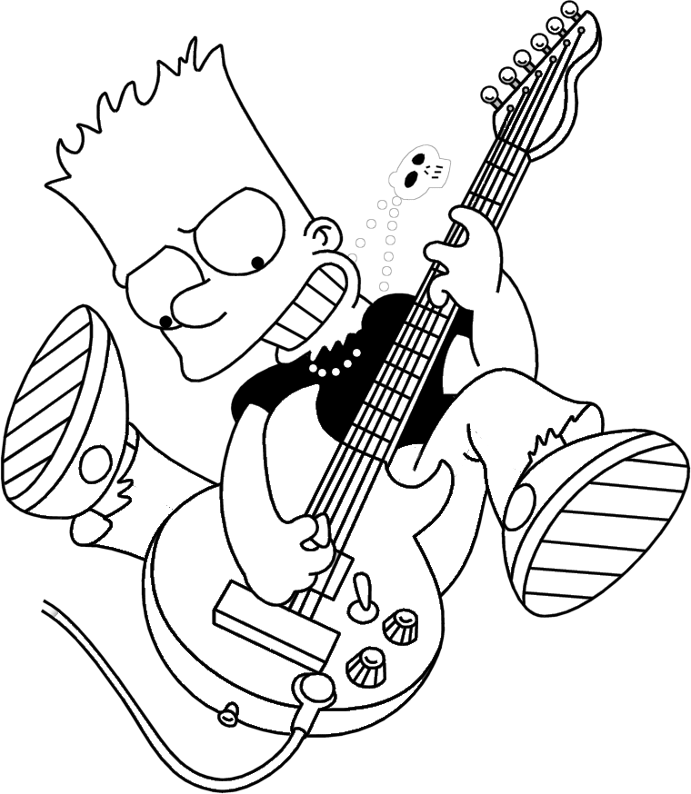 the simpsons coloring pages Bart Simpson Coloring Pages Cool