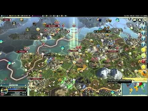 Let\'s Play Civilization 5 (Huge Earth Map) - Part 47 - The English ...