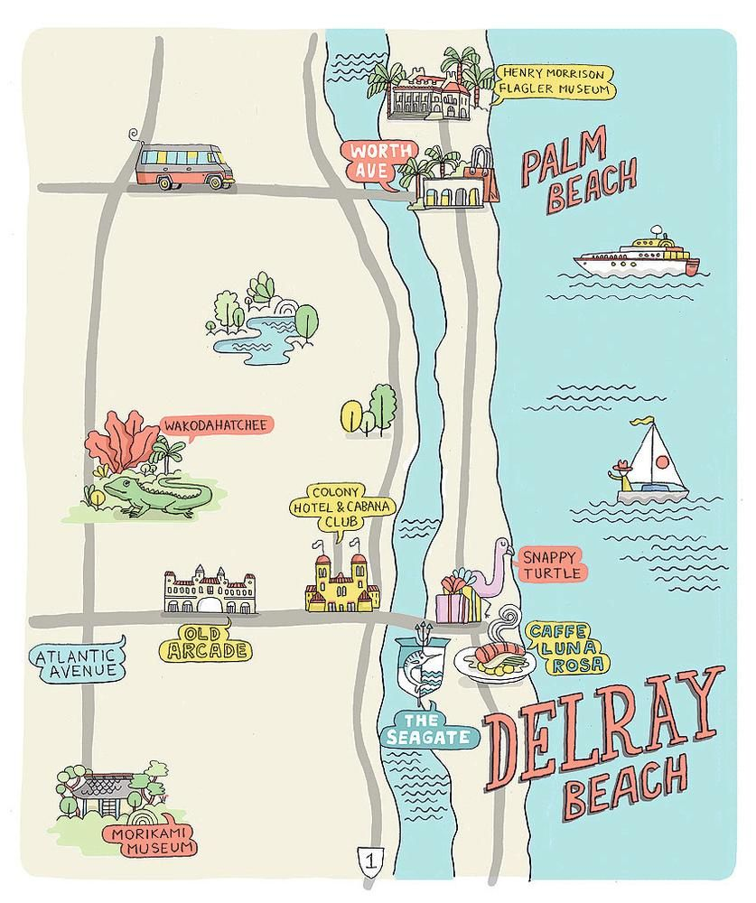 Map Of Florida Showing Delray Beach.A Sunny Escape 3 Perfect Days In Delray Beach Florida Other