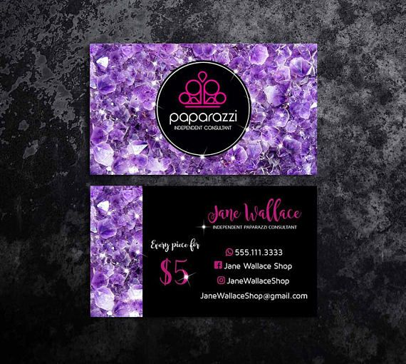 Paparazzi business cards paparazzi jewelry paparazzi accessories paparazzi consultant black and purple glitter business cards
