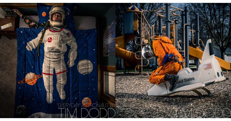 Last November, photographer Tim Dodd found himself the lone bidder of a Russian high altitude space suit on an auction website called RRauction and he's been scheming how to best use the suit ever since. On his website, Dodd explains that he's recently been revisiting his childhood love for space and his obsession was…