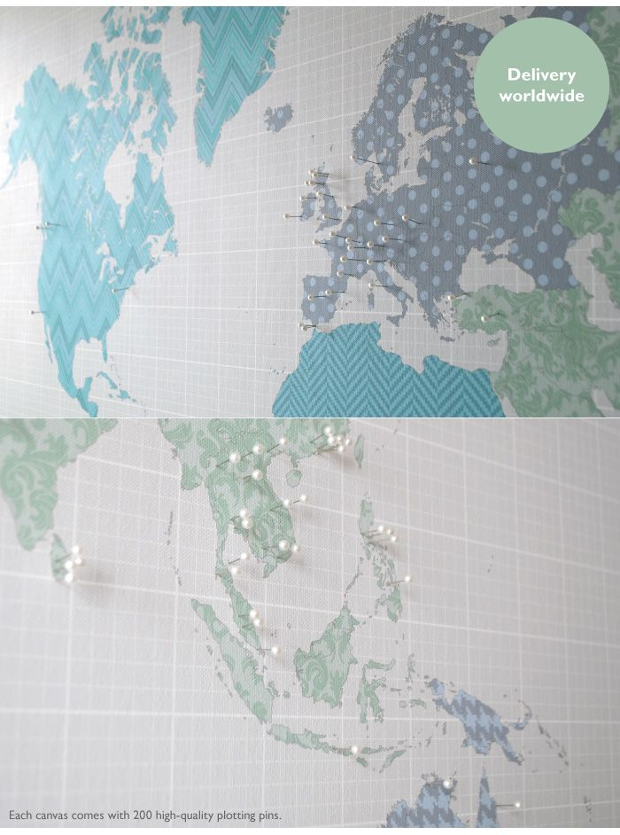 Close up of plotting pins on world map canvas by blank blank close up of plotting pins on world map canvas by blank gumiabroncs Image collections