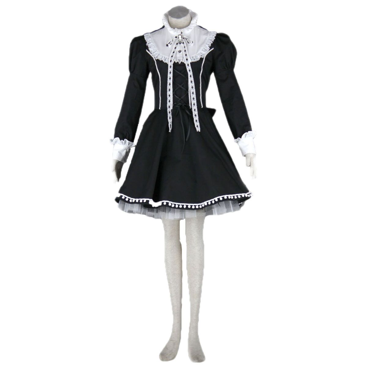 Deluxe lolita culture bustle hat bow short dresses cosplay costumes