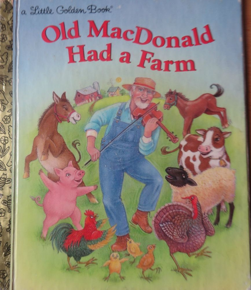 Little Golden Book Old Macdonald Had A Farm 1997 Little Golden Books Old Children S Books Books