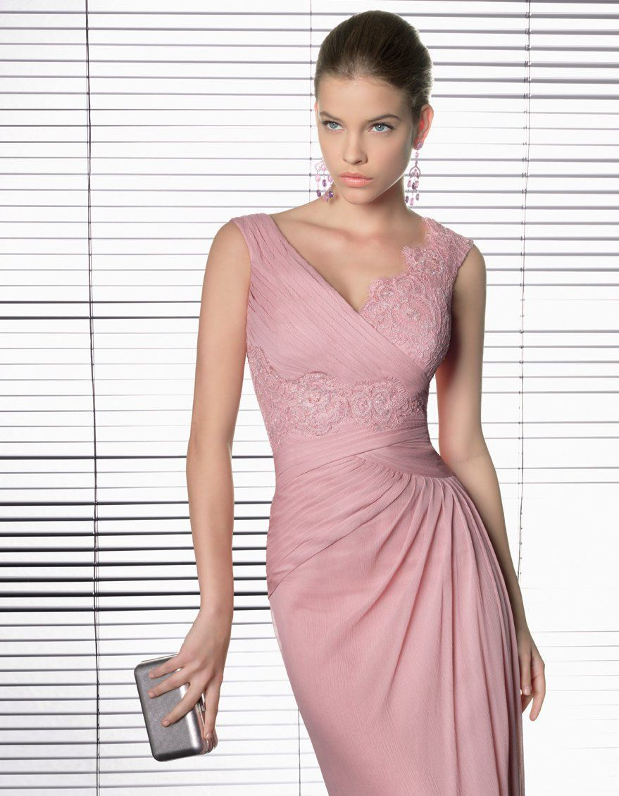 vestidos-rosa-elegante-fiesta | Dresses / Fashion | Pinterest ...