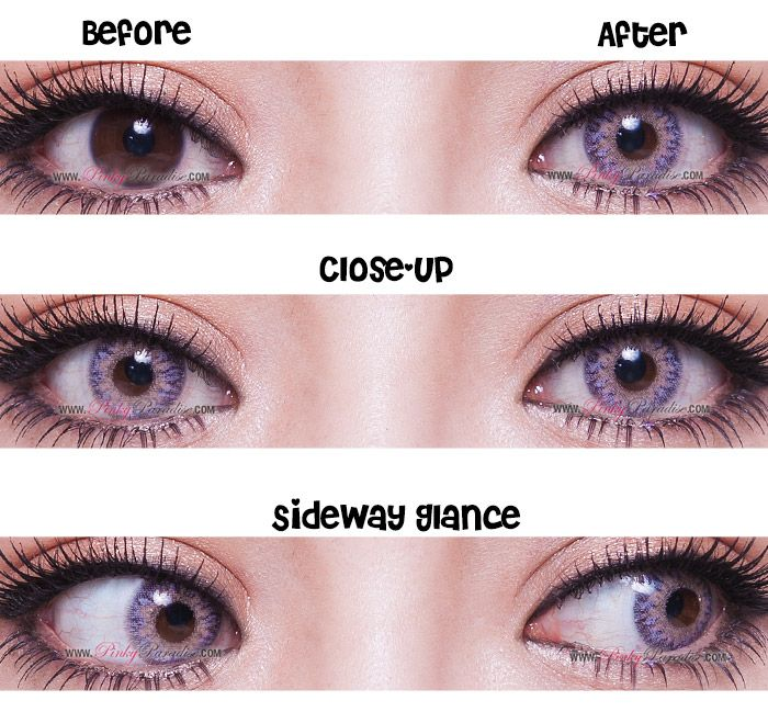 78557d9b647 Princess Pinky Woolly Eyes Violet 14.5mm Blue Contacts