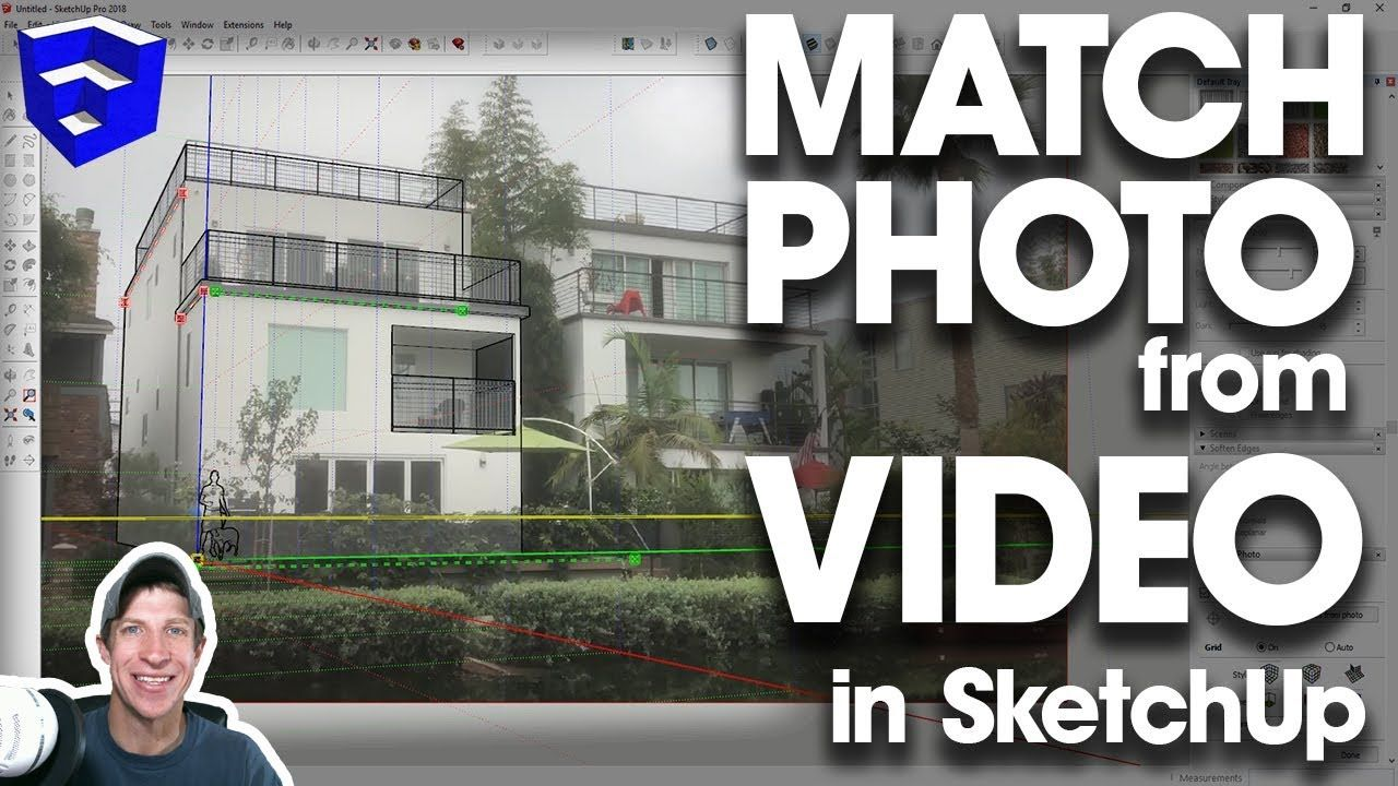 Creating A Match Photo Model From Video Images In Sketchup