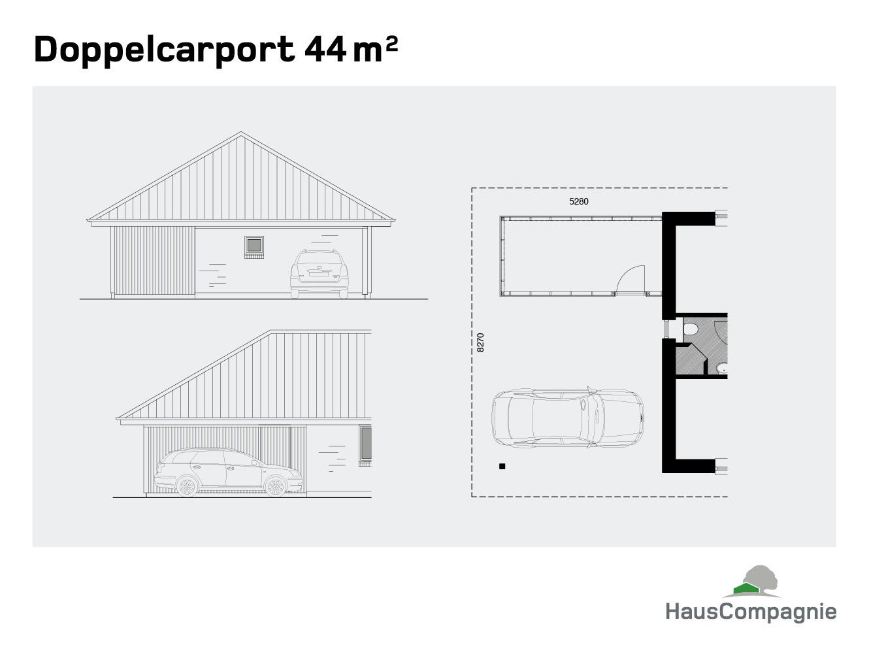 Garagen Und Carports Hauscompagnie Carports Carport Doppelcarport