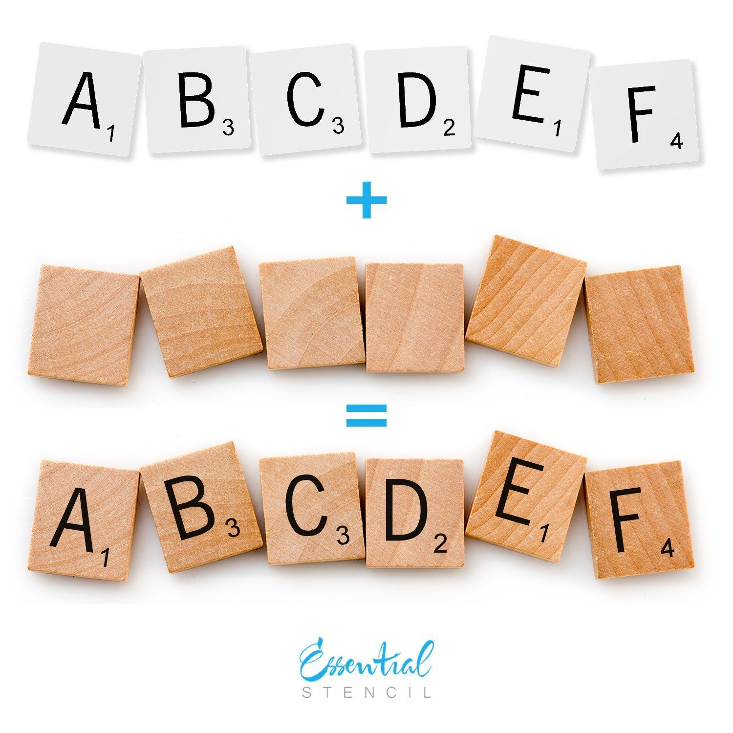 Scrabble Letters Stencil Set Perfect For Painting On Wood Diy Modern Home Decor Calligraphy Signs Rustic Decor For Farmhouse Fixer Upper J Scrabble Letters Sign Stencils Letter Stencils