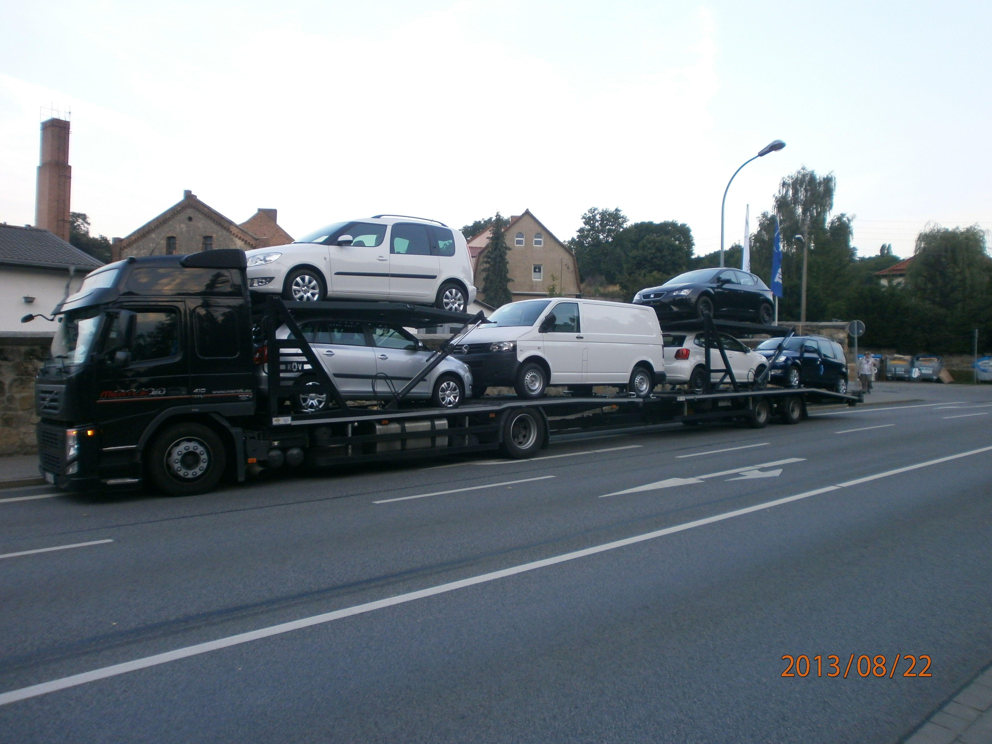 New cars distribution