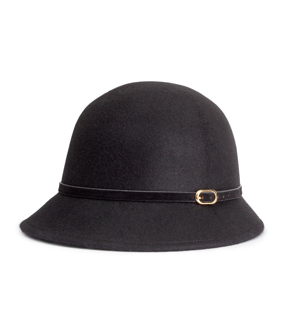 Discover ideas about High Street Brands. H M Cloche black wool hat acf3b80f769