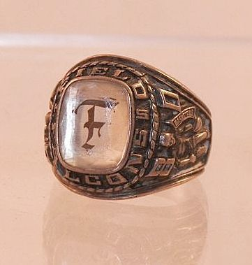 1980 Argentus Girl's Class School Ring Basketball Track.