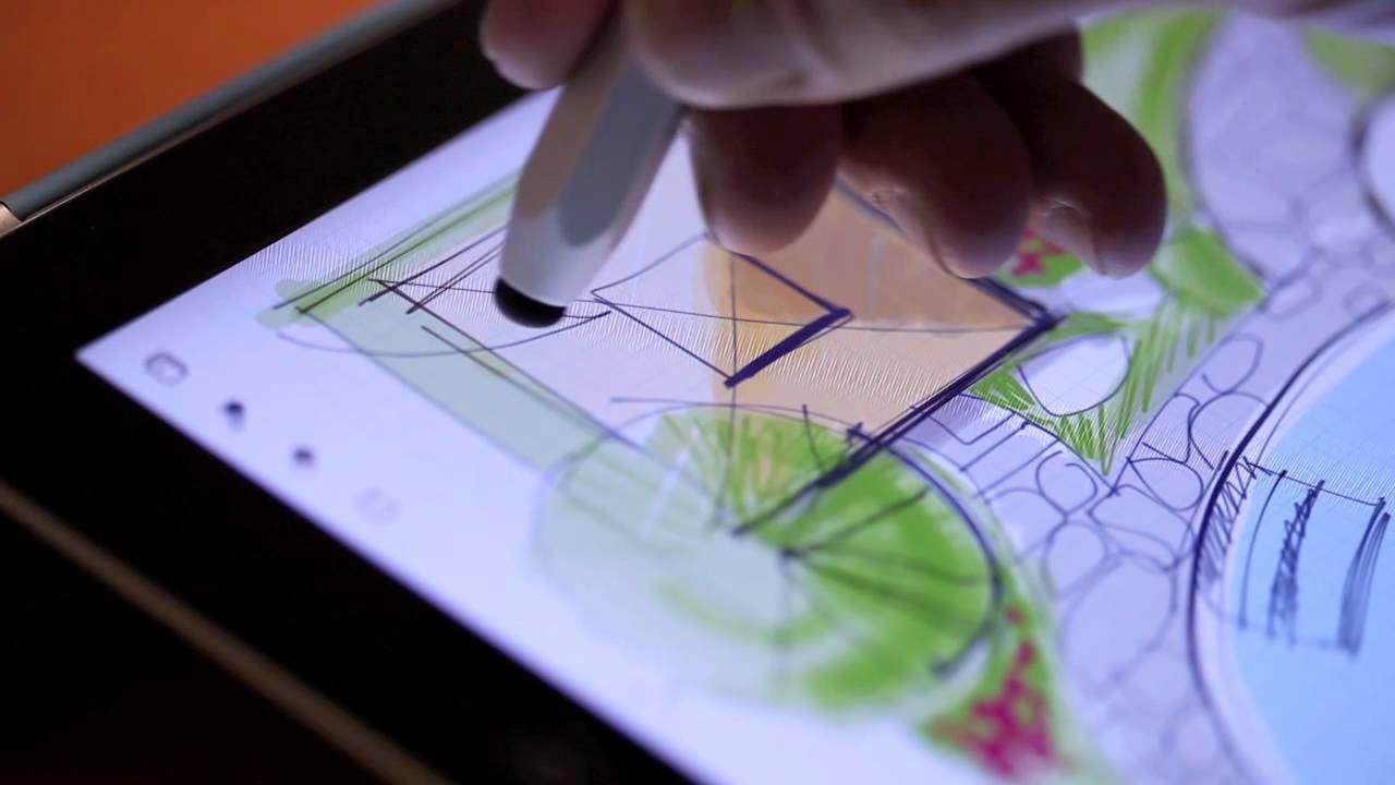 Landscape Sketch On Ipad Patio Landscape Design Landscape Design App Backyard Landscaping Designs