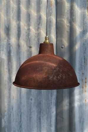 Rusty Steel Vintage Style Barn Light Workshop Ceiling Lamp Pendant Shade Rs2g3 Barn Lighting