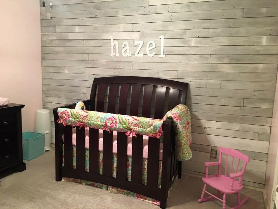 I Love This Gray Wall Decor Baby Bed Home Decor