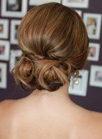 #bridal low bun