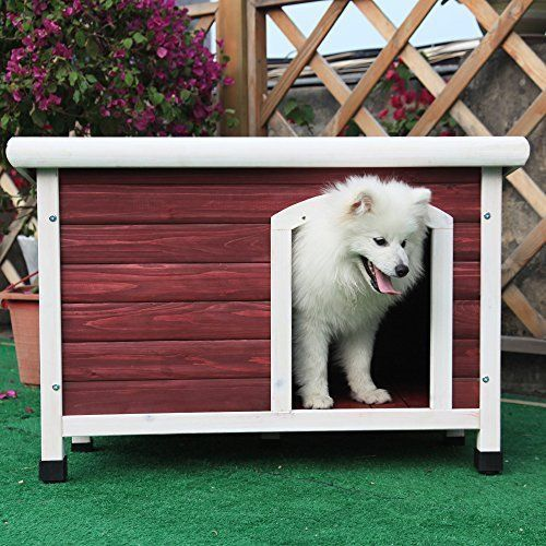 Dog Wood House Outdoor Garden House Furniture Pet Sleep Shelter