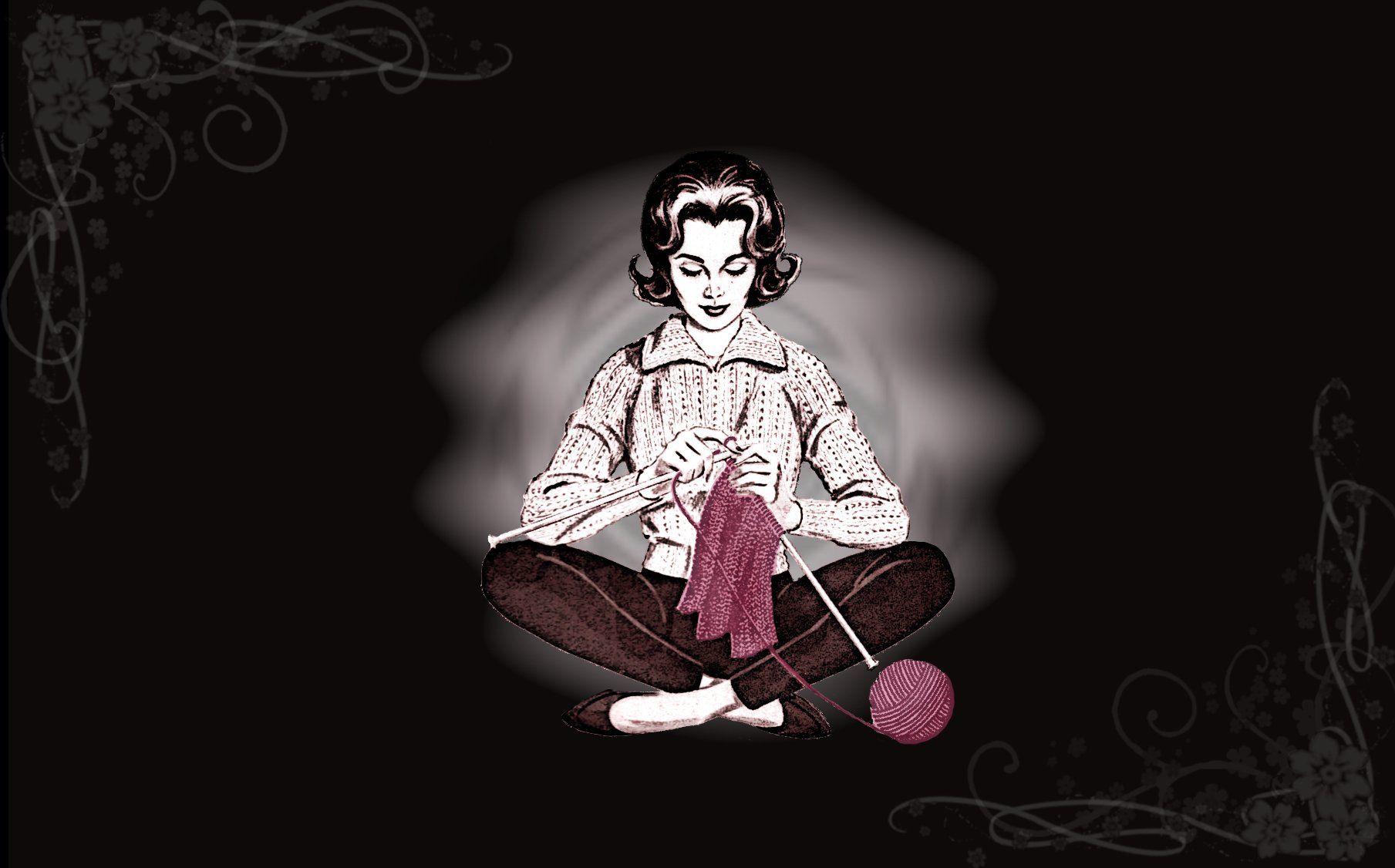 Meditating Knitter by minishadowlove