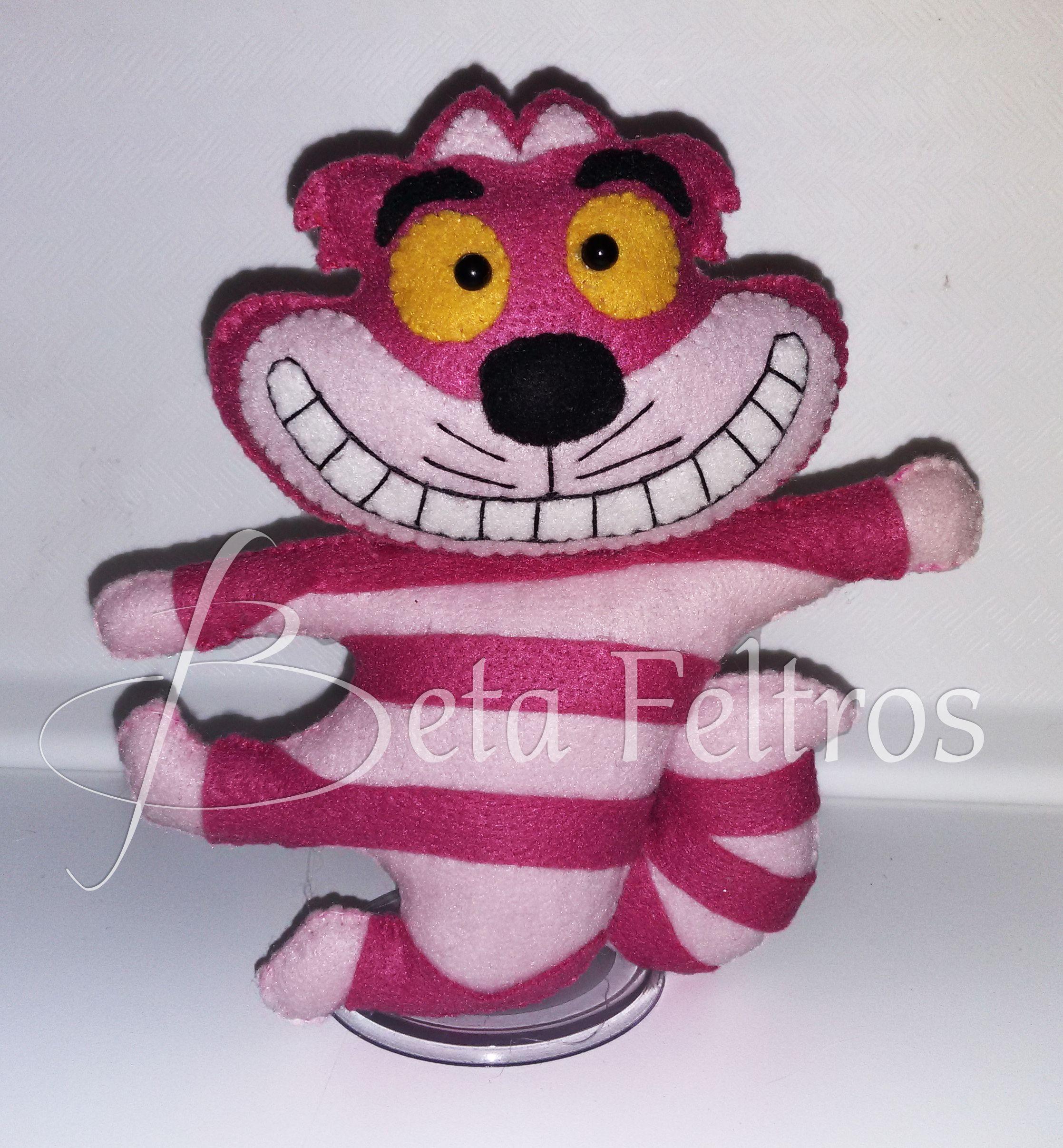 Gato Cheshire Feltro #gato #cheshire #alice #feltro #felt #betafeltros