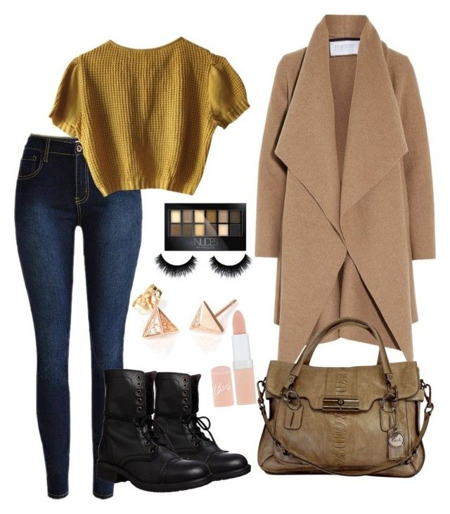 """""""ootd 25.01.2016"""" by tinaioana on Polyvore featuring Schumacher, Steve Madden, Harris Wharf London, Coach, Maybelline, Rimmel, women's clothing, women's fashion, women and female"""