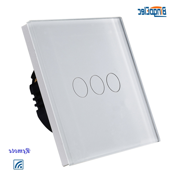 27.00$  Buy here - http://alik8e.worldwells.pw/go.php?t=1726456302 - 3gang1way white touch switch glass,remote control light switch EU/UK satandard  AC110-250V CE 27.00$