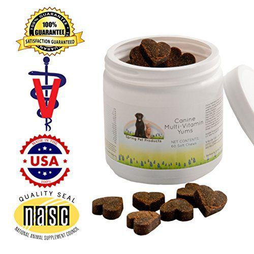 Spring Pet Canine Multi-vitamin Yums 60 Count ~ for Use in Dogs and Puppies Only ~ Veterinary Formula Made in USA - http://www.thepuppy.org/spring-pet-canine-multi-vitamin-yums-60-count-for-use-in-dogs-and-puppies-only-veterinary-formula-made-in-usa/